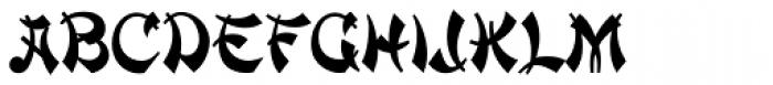 Mandarin Font LOWERCASE