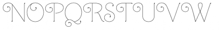 Mandevilla Light Basic-Light Font UPPERCASE