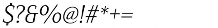Mandrel Cond Light Italic Font OTHER CHARS