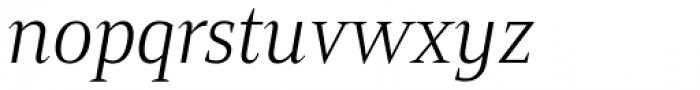 Mandrel Cond Light Italic Font LOWERCASE