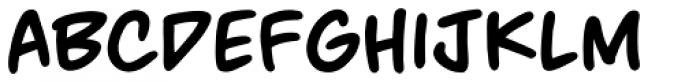 MangaMaster BB Bold Font LOWERCASE
