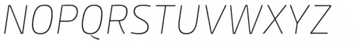 Mangerica Thin Italic Font UPPERCASE