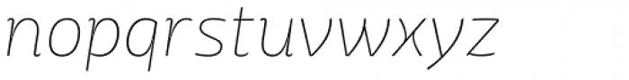 Mangerica Thin Italic Font LOWERCASE
