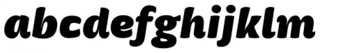 Mangerica Ultra Italic Font LOWERCASE
