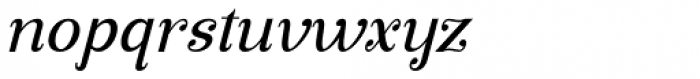 Manohara Pro Italic Font LOWERCASE