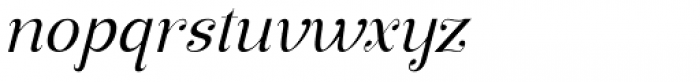 Manohara Pro Light Italic Font LOWERCASE