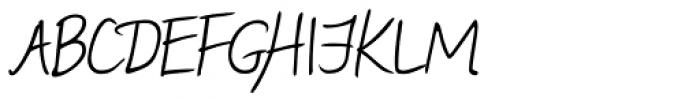 Manolo Handwriting Font UPPERCASE