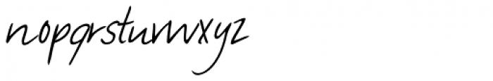 Manolo Handwriting Font LOWERCASE