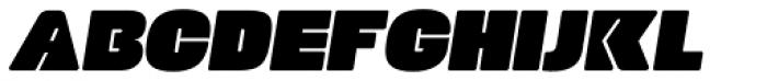 Manometer Sans Oblique Font UPPERCASE