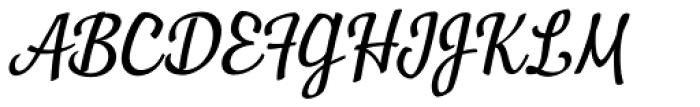 Manor Italic Font UPPERCASE