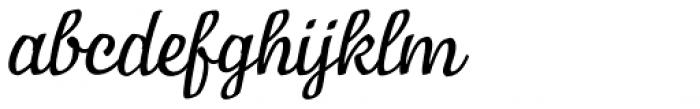 Manor Italic Font LOWERCASE
