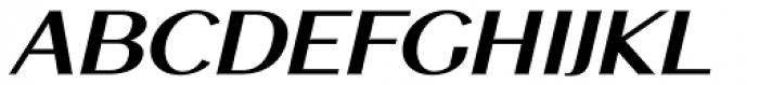 Mansory Bold Oblique Font UPPERCASE