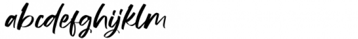 Manstromer Regular Font LOWERCASE