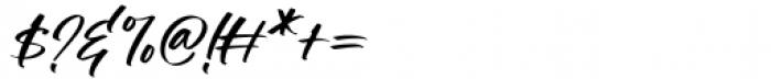 Manstromer Slant Font OTHER CHARS