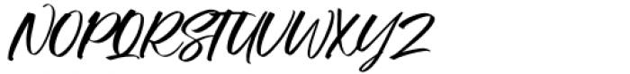 Manstromer Slant Font UPPERCASE