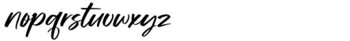 Manstromer Slant Font LOWERCASE