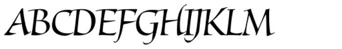 Mantegna Std Italic Font UPPERCASE