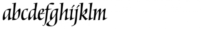 Mantegna Std Italic Font LOWERCASE