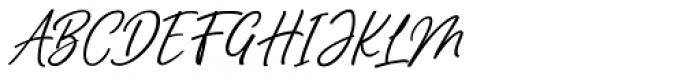 Manthoels Regular Font UPPERCASE
