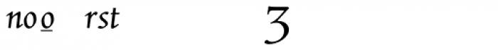 ManticoreT Italic Extra Sorts Font UPPERCASE