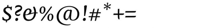 Mantika Book Pro Italic Font OTHER CHARS