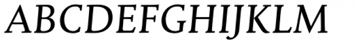 Mantika Book Pro Italic Font UPPERCASE