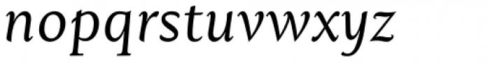 Mantika Book W1G Italic Font LOWERCASE
