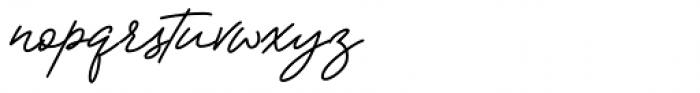 Manttulcuy Signature Regular Font LOWERCASE