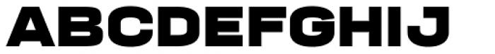 Manual Black Expanded Font UPPERCASE