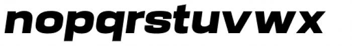 Manual Black Italic Font LOWERCASE