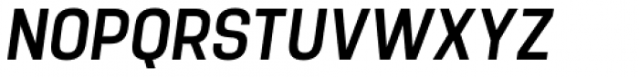 Manual Condensed Italic Font UPPERCASE
