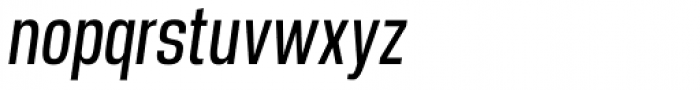 Manual Light Compressed Italic Font LOWERCASE