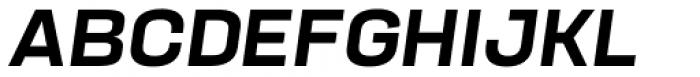 Manual Medium Italic Font UPPERCASE