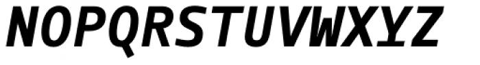 Manual Mono Bold Italic Font UPPERCASE