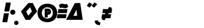 Manual Sans Italic Blk Caps Expert Font OTHER CHARS