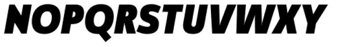 Manual Sans Italic Blk Caps Font UPPERCASE