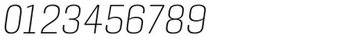 Manual Thin Condensed Italic Font OTHER CHARS