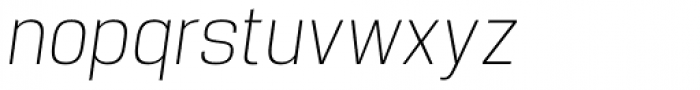 Manual Thin Condensed Italic Font LOWERCASE