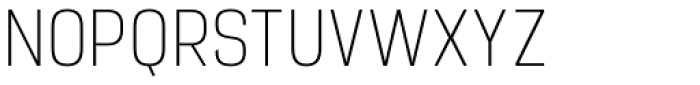 Manual Thin Condensed Font UPPERCASE