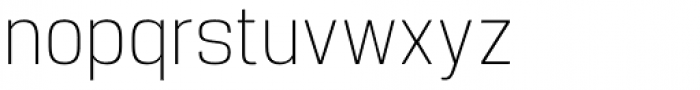 Manual Thin Condensed Font LOWERCASE