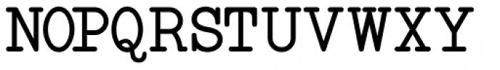 Manual Typewriter JNL Font LOWERCASE