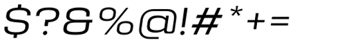 Manual Ultra Light Expanded Italic Font OTHER CHARS