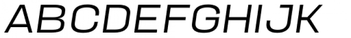 Manual Ultra Light Expanded Italic Font UPPERCASE