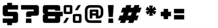 Manufaktur Expanded Heavy Font OTHER CHARS