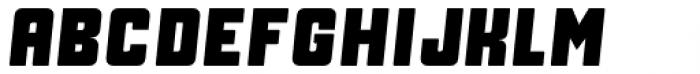 Manufaktur Heavy Italic Font UPPERCASE