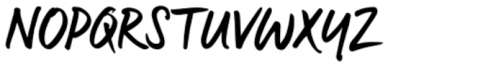 Manus Smooth Font UPPERCASE