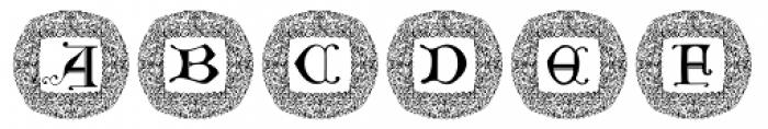 Manuscript XIVCentury Frame1 Font UPPERCASE