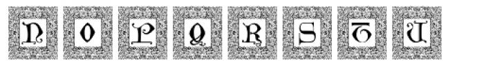 Manuscript XIVCentury Frame2 Font UPPERCASE