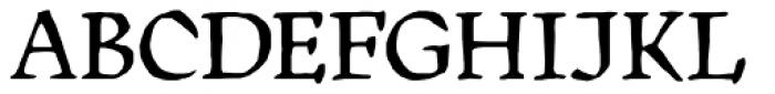 Manuskript Antiqua D Regular Font UPPERCASE