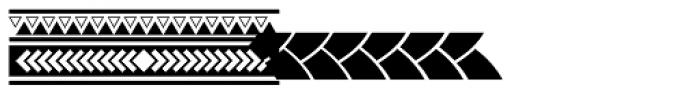Maori New Zeeland Graphics Font UPPERCASE